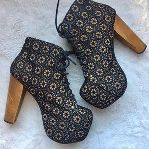Jeffrey Campbell Lita Mac Daisy Crochet Heel Boots